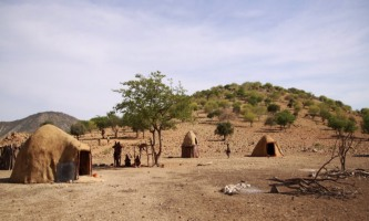 Himba Village in Kunene Region, Northern Namibia