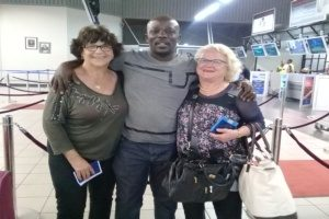 Farewell to these two wonderful French Tourists at the Hosea Kutako Int Airport